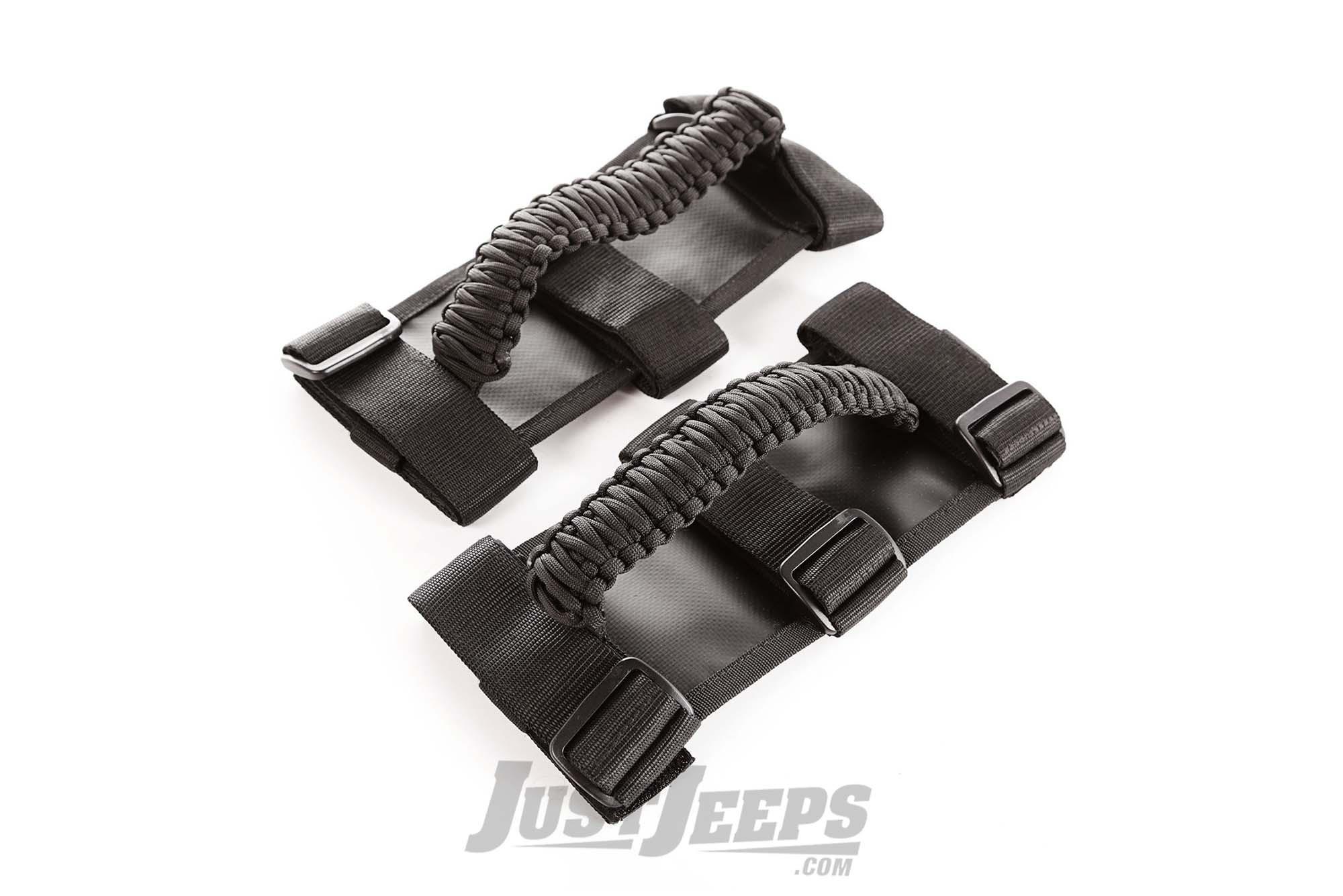 Rugged Ridge Paracord Grab Handles For 1997+ Jeep CJ, Wrangler YJ/TJ/TLJ/JK/JKU/JL/JLU & Gladiator JT Models 13505.30-