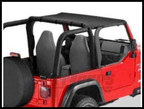 Jeep Bimini Top >> Rugged Ridge Value Line Bimini Header Top In Black Denim 1997 06 Tj Wrangler Rubicon And Unlimited