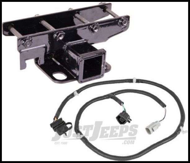 Incredible Just Jeeps Rugged Ridge Rear Hitch 2 With Wiring Harness For 2007 Wiring Cloud Pimpapsuggs Outletorg
