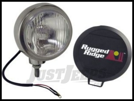 "Rugged Ridge Stainless Steel HID Offroad 6"" Round Fog Light 15206.01"