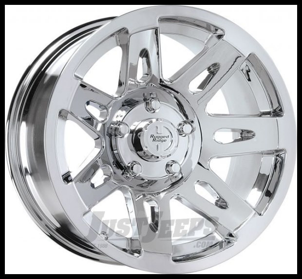 "Rugged Ridge 17x9 XHD Wheel Polished Chrome With 5"" X 5 Bolt Pattern & -12mm Offset 15301.20"