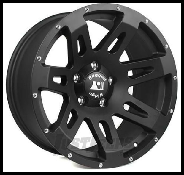 Just Jeeps Buy Rugged Ridge 18x9 Wheel In Satin Black 07