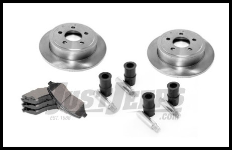 Omix-ADA Brake Kit Front For 1999-02 Jeep Grand Cherokee (Includes Rotors, Pads and Caliper Hardware Kit) 16760.04