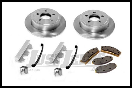 Omix-ADA Brake Kit Front With 2 Bolt Caliper Plate For 1978-81 Jeep CJ  Series (Includes Rotors, Pads and Caliper Hardware Kit)