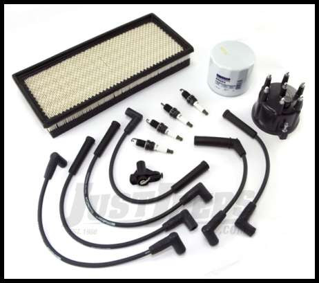 just jeeps crown automotive tune up kit for 1999-02 jeep wrangler tj with  2 5l with efi - tune up - parts & kits - shop by part   jeep parts store in