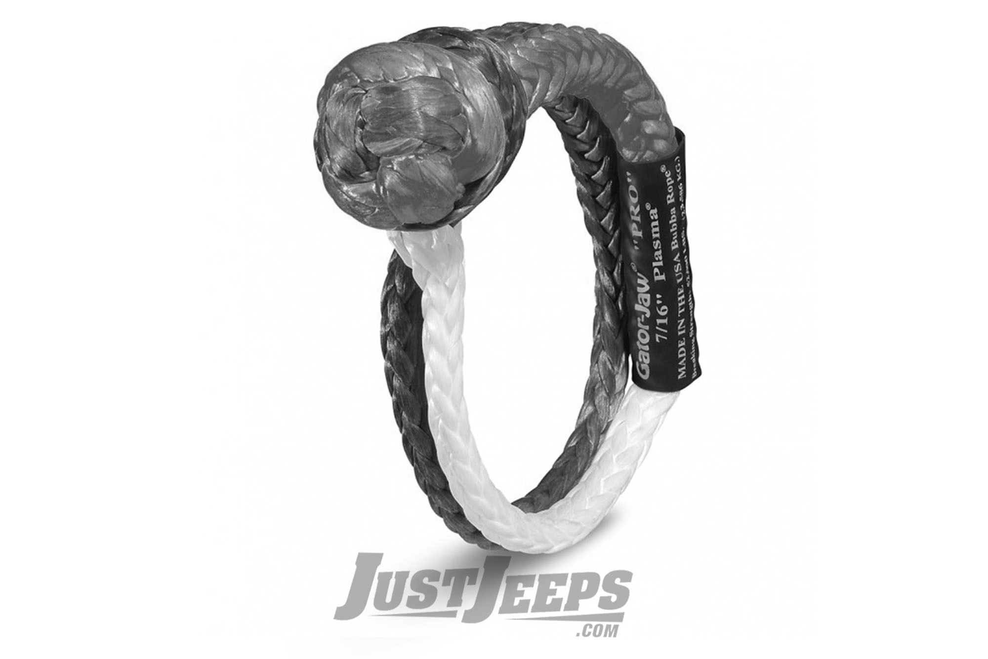 "Bubba Rope Standard Gator Jaw 7/16"" Soft Shackle With A 32,000 lbs. Breaking Strength"