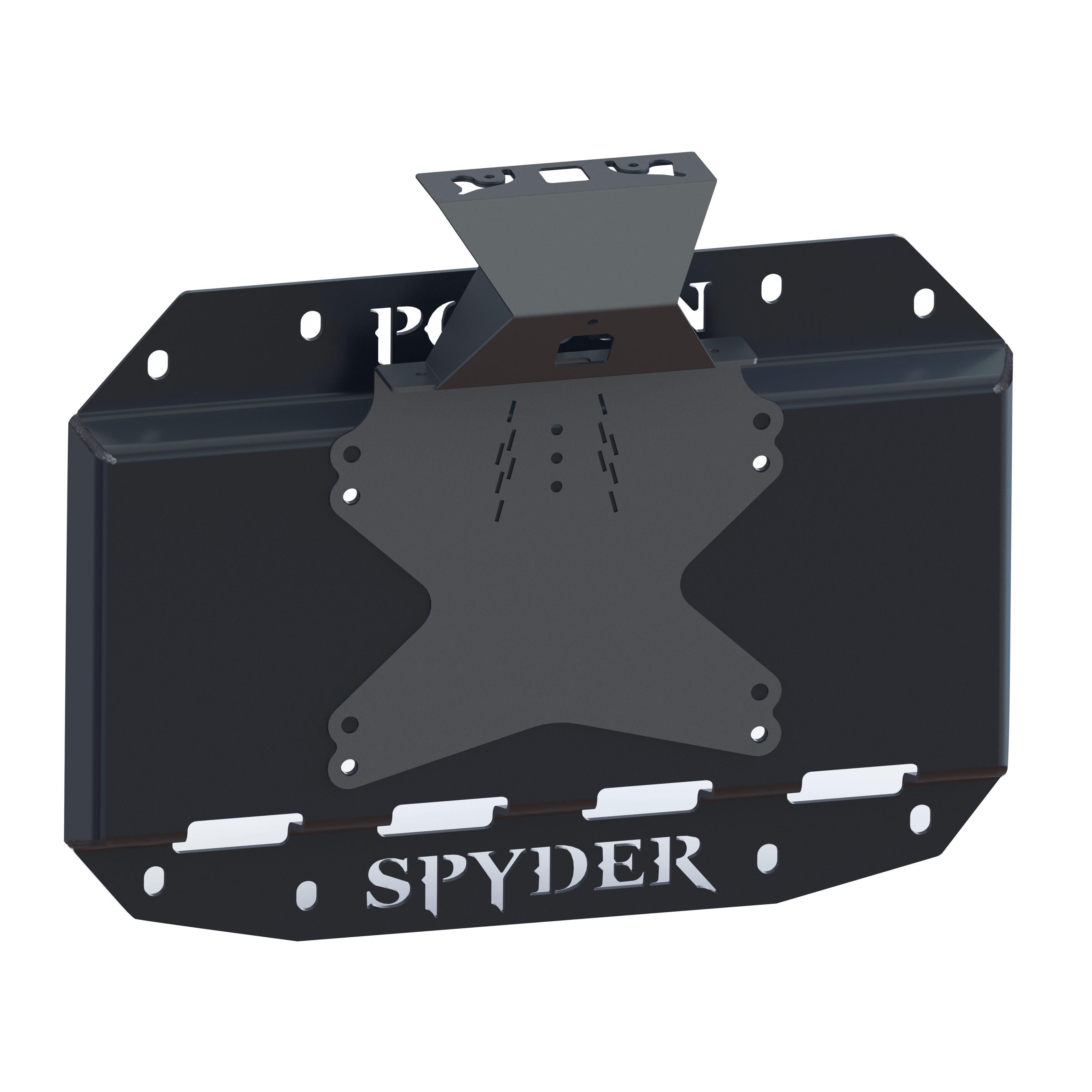Poison Spyder Tire Carrier Delete Plate With Camera Mount - For 2018+ Jeep Wrangler JL 2 Door & Unlimited 4 Door Models 19-04-013P1