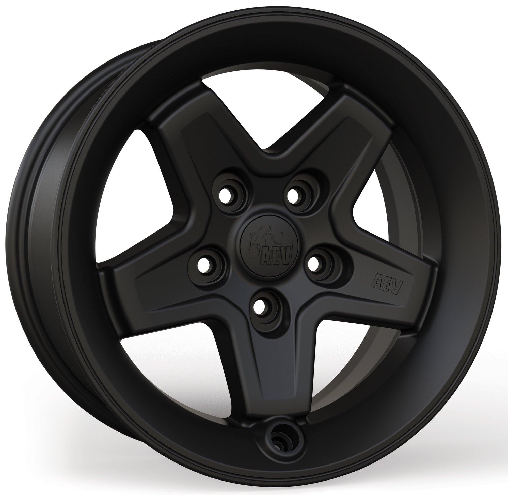 AEV Pintler Wheels 17 x 8.5 Black Wheel For 2007+ Jeep Wrangler JK 2 Door & Unlimited 4 Door +10mm offset 20402022AD
