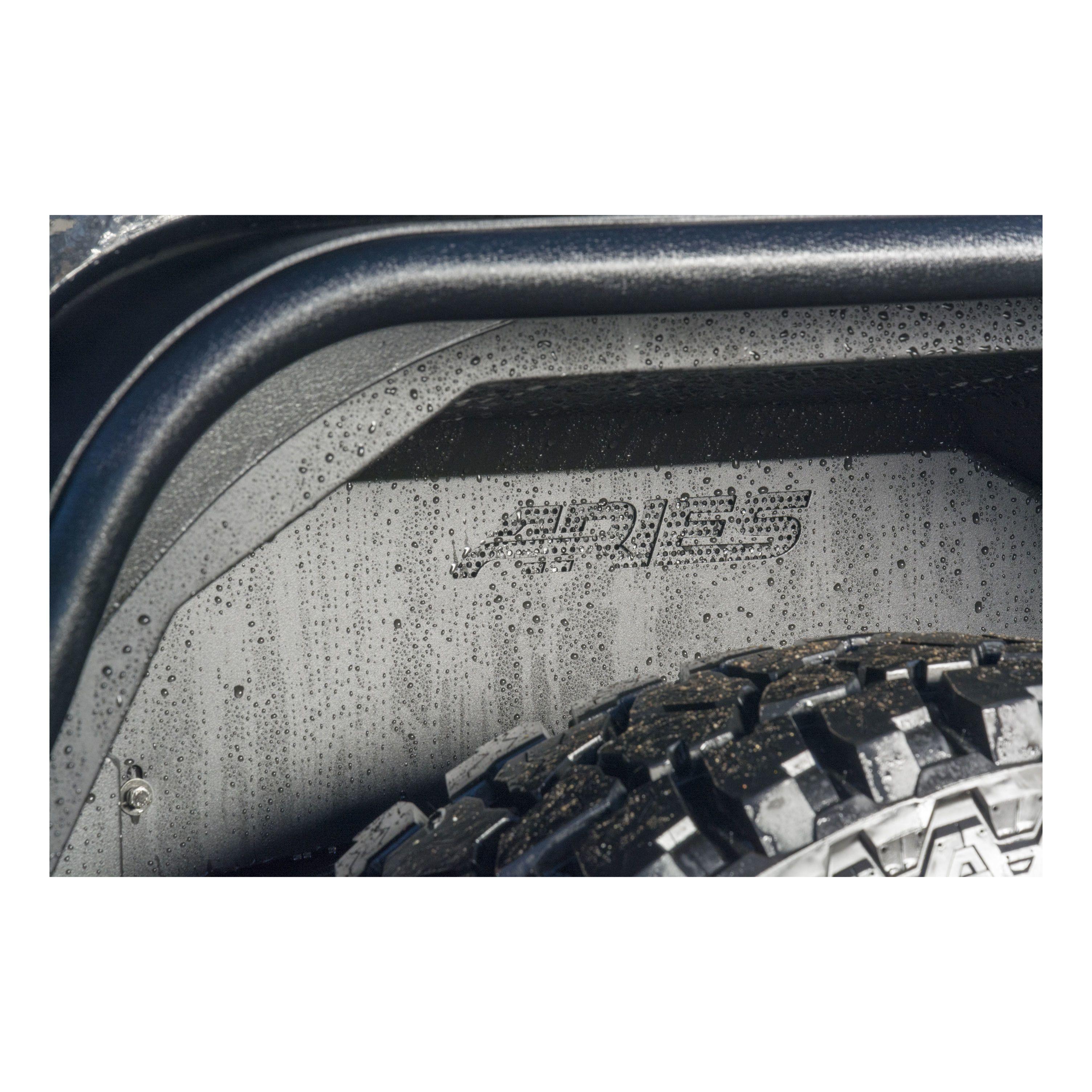 Aries Automotive Rear Inner Fender Liners In Black For 2007-18 Jeep Wrangler JK 2 Door & Unlimited 4 Door Models