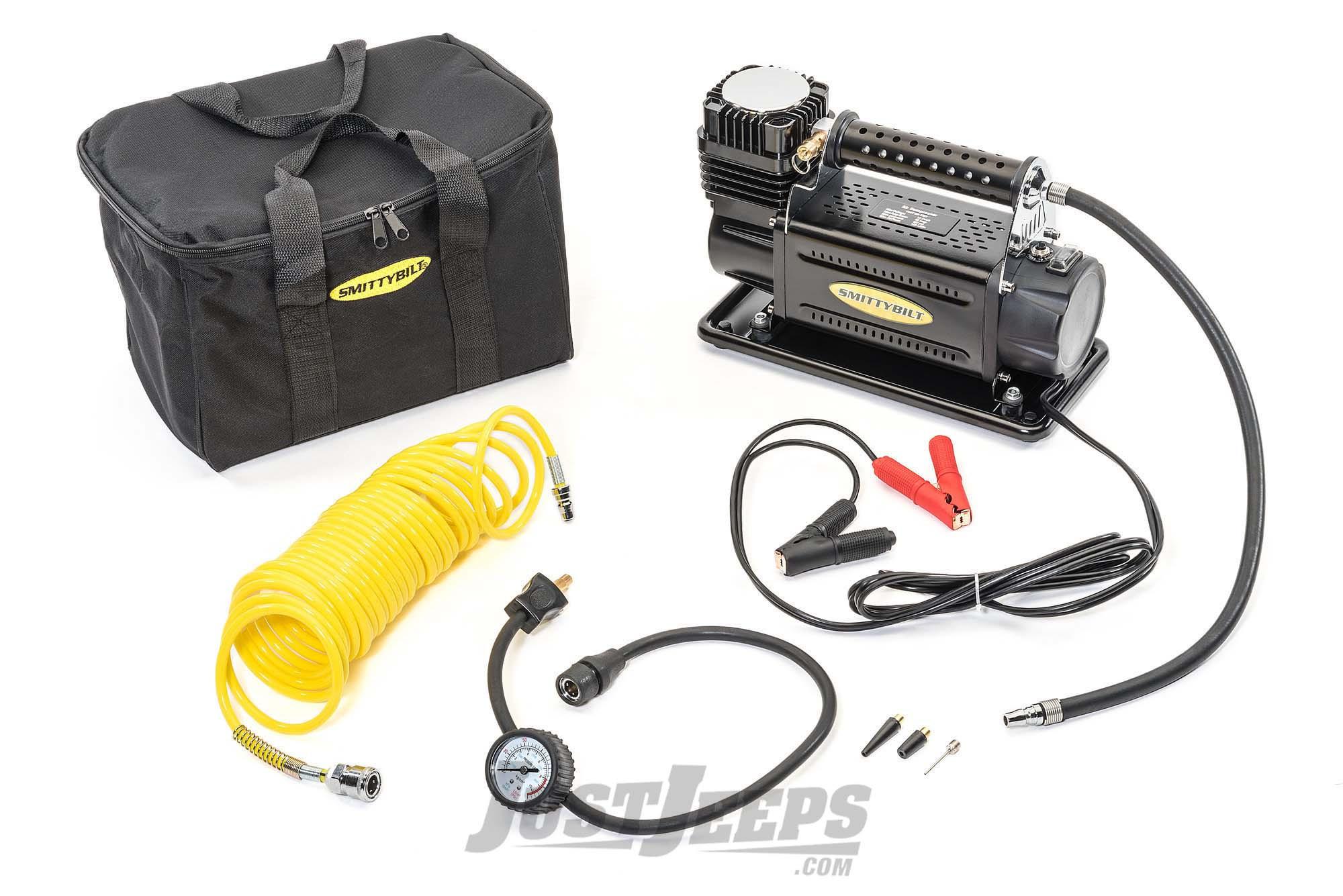 SmittyBilt Heavy Duty Air Compressor Portable & Produces 5.65 CFM/ 160 LPM