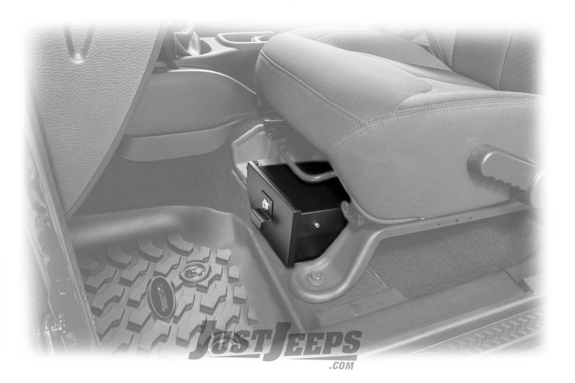 fbd97e6a1bc Just Jeeps Vertically Driven Products Under Seat Storage Vault For 2007-18  Jeep Wrangler JK Unlimited 4 Door Models - Jeep Wrangler JK Unlimited -  Shop By ...