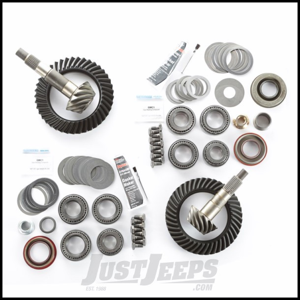 Alloy USA 3 73 Ratio Ring & Pinion Set With Master Install Kit For Dana 30  Front & Dana 35 Rear For 1997-06 Jeep Wrangler TJ & TJ Unlimited Models