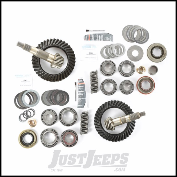 Alloy USA 4 88 Ratio Ring & Pinion Set With Master Install Kit For Dana 30  Front & Dana 44 Rear For 1997-06 Jeep Wrangler TJ & TJ Unlimited Models