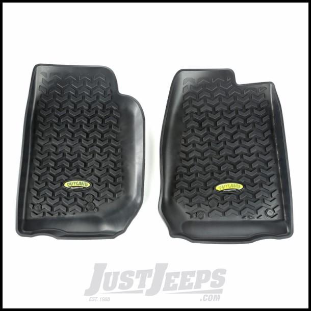 Outland (Black) Front Floor Liners For 2007-18 Jeep Wrangler JK 2 Door & Unlimited 4 Door Models 391292003