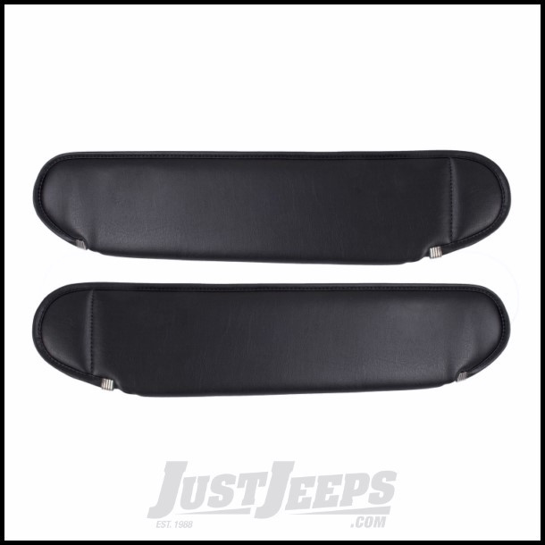 Outland (Black) Sun Visors For 1987-95 Jeep Wrangler YJ 391331201