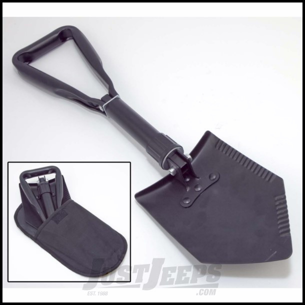 Outland Collapsible Tri-Fold Recovery Shovel Powder Coated Black 391510442