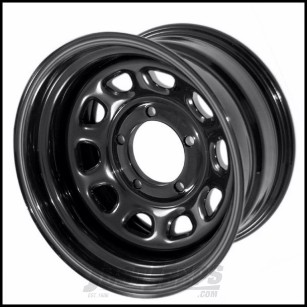Just Jeeps Outland Black 15 X 8 D Window Steel Wheel With 5 X 5 5