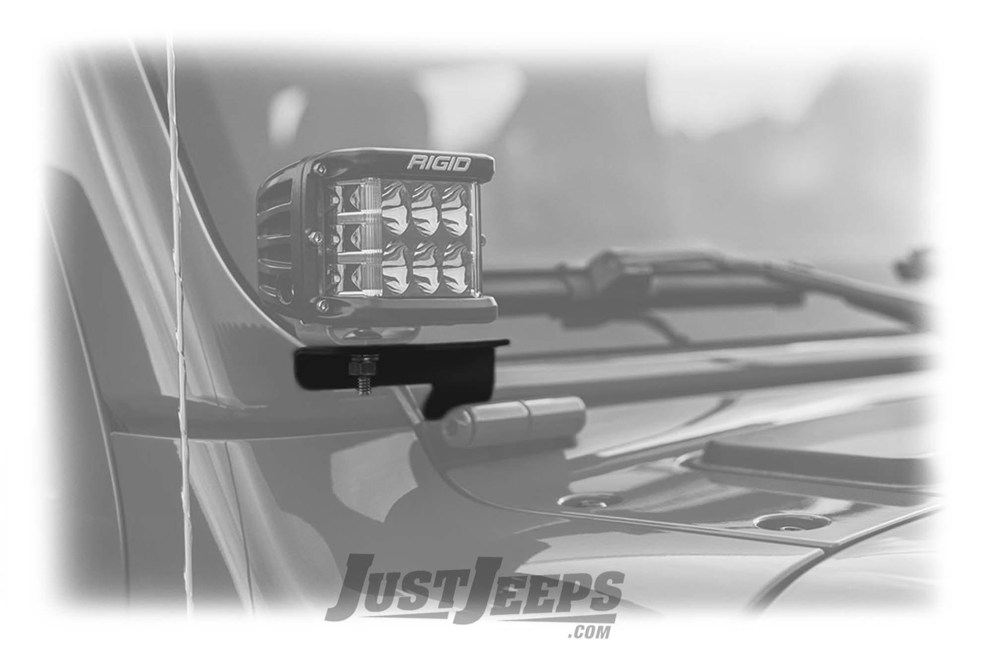 Rigid Industries A-Pillar LED Light Mounts For 2018+ Jeep Wrangler JL 2 Door & Unlimited 4 Door Models 41659