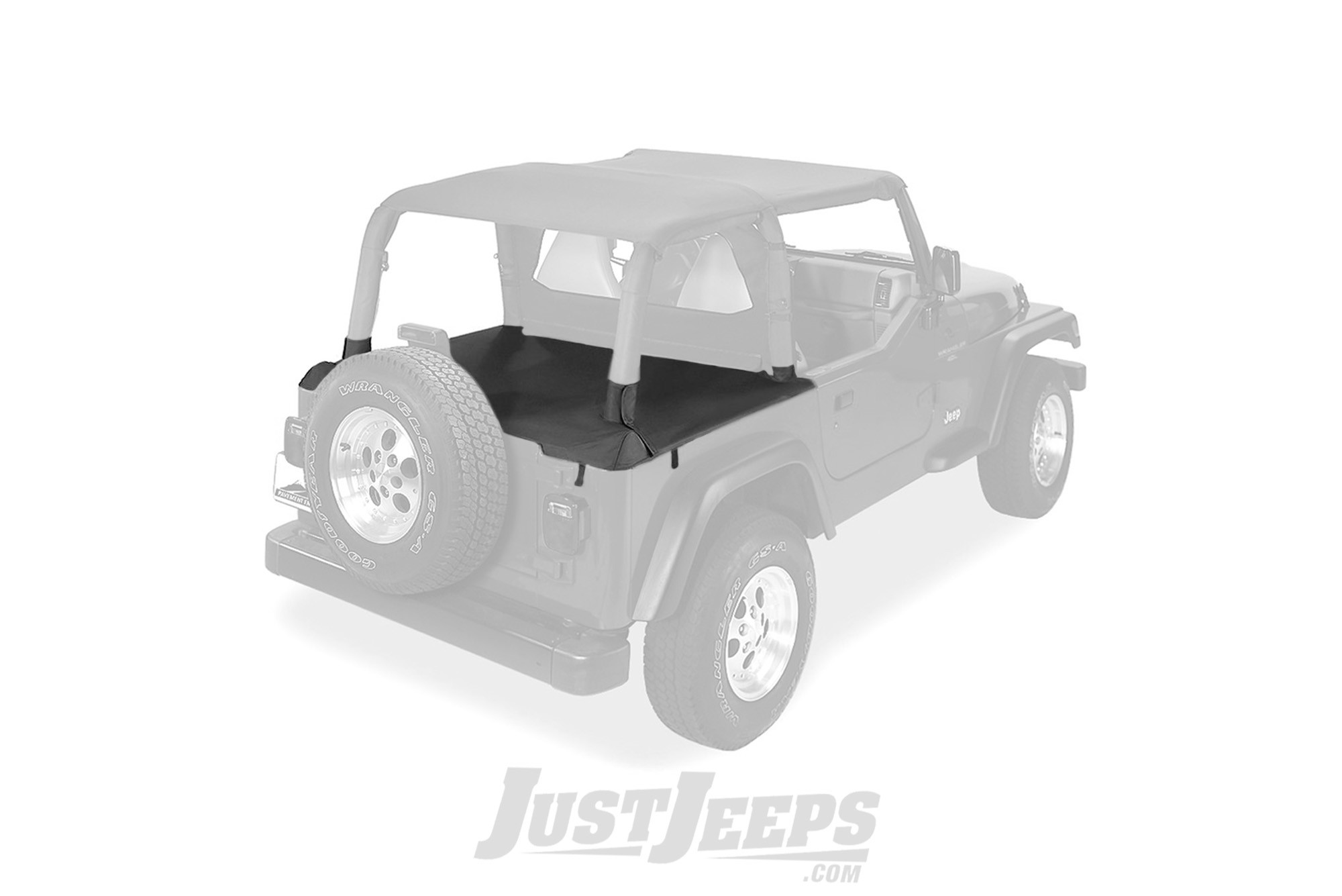 Pavement Ends Cargo Tonneau Cover In Black Denim For 1997-02 Jeep Wrangler TJ With Factory Soft Top 41825-15
