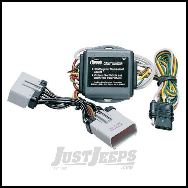 Hopkins Simple Plug-in Trailer Wiring Harness Kit For 2002-07 Jeep on