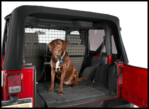 Just Jeeps Bestop Pet Barrier For 2007 10 Jeep Wrangler Jk