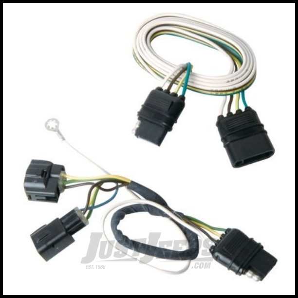 just jeeps hopkins simple plug in trailer wiring harness kit for 2005 06 jeep wrangler tj models. Black Bedroom Furniture Sets. Home Design Ideas