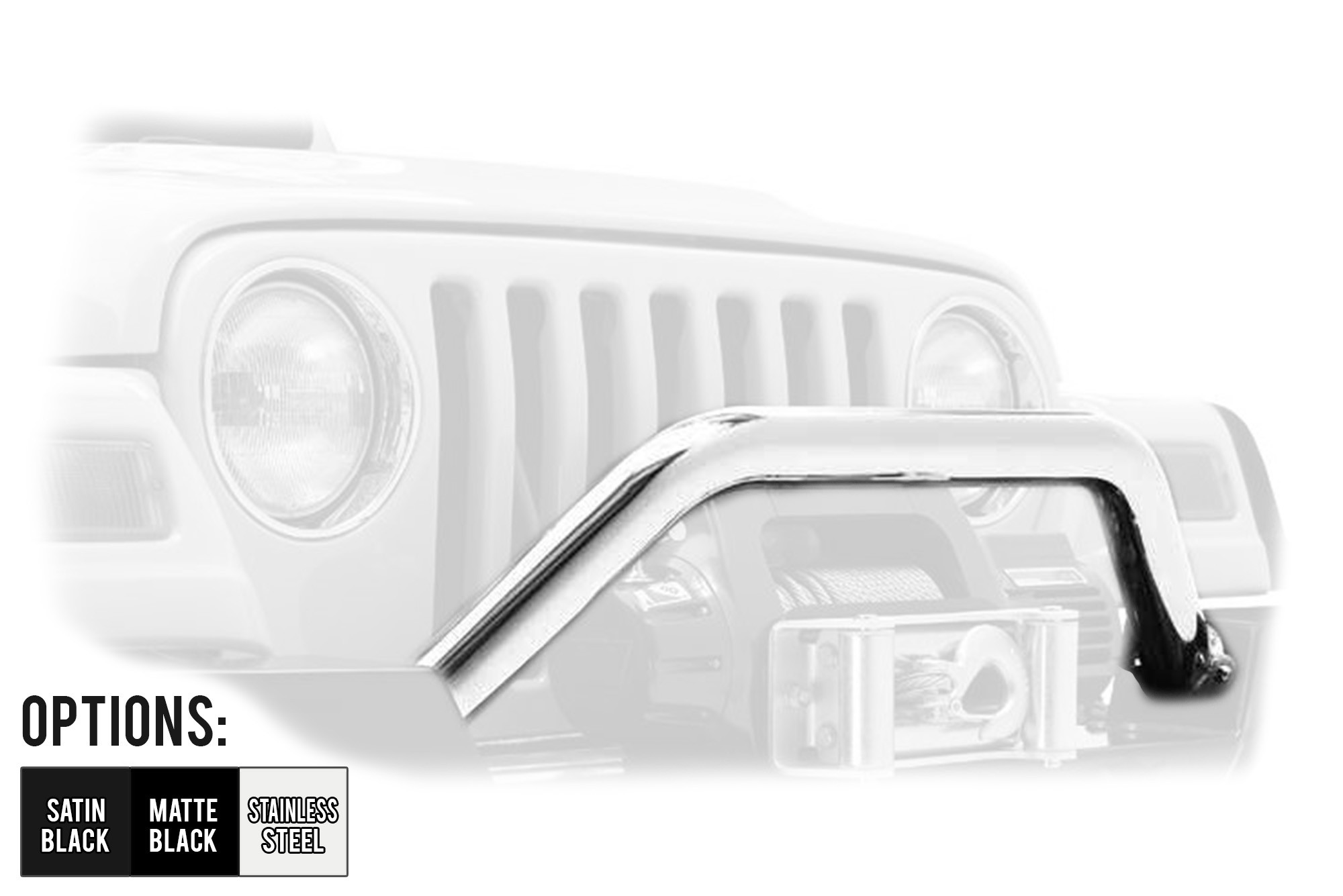 Bestop HighRock 4X4 Tubular Grill Guard For 1987-06 Various Jeep Models (See Details)