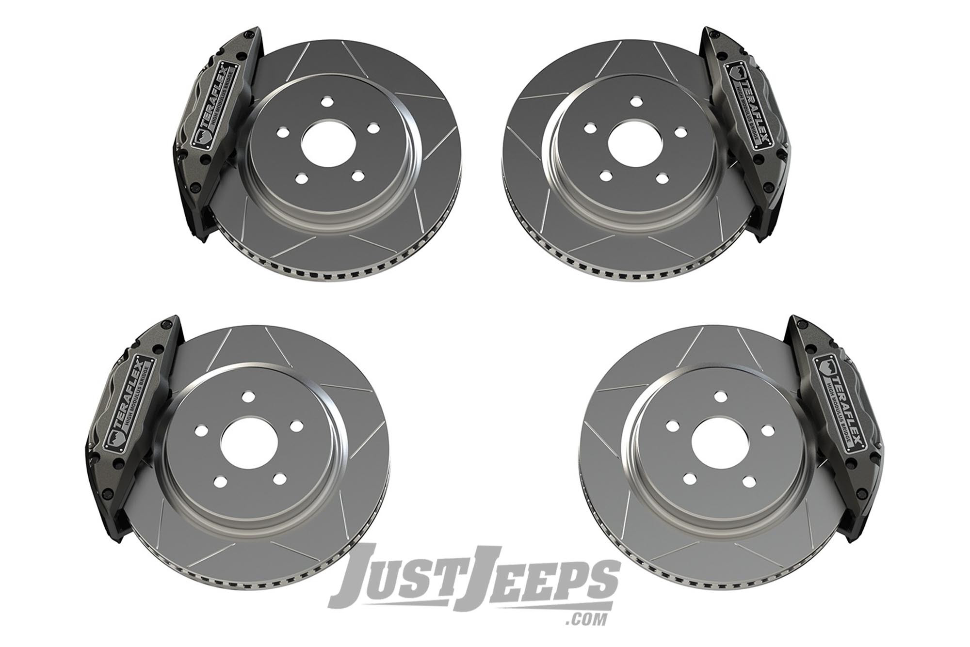 Teraflex Delta Front & Rear Brake Kit With 5x5 Bolt Pattern For 2007+ Jeep Wrangler JK & JL 2 Door & Unlimited 4 Door Models