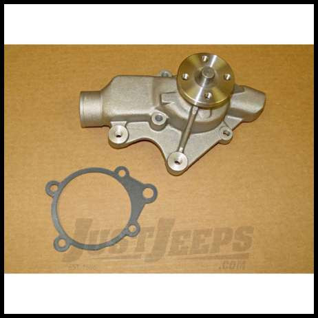 Omix-ADA Water Pump For 1991-99 Jeep Wrangler YJ & TJ With 6 CYL With Serpentine Also 1987-95 Wrangler YJ With 4 Cyl With Serpentiene & 1991-98 Cherokee XJ 4 Cyl With Serpentine