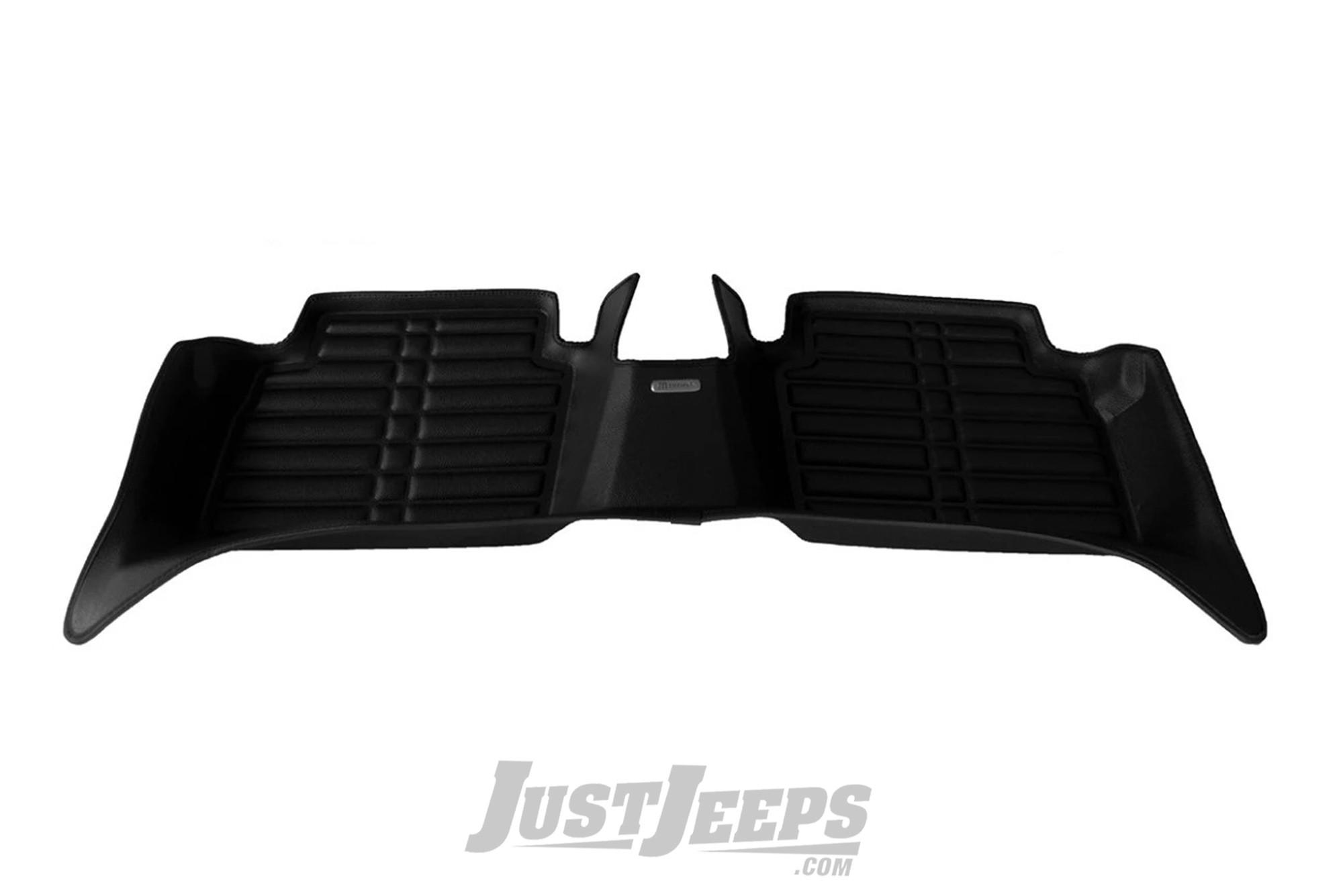 TuxMat Rear Floor Mat In Black For 2018+ Jeep Wrangler JL 2 Door Models 475-B
