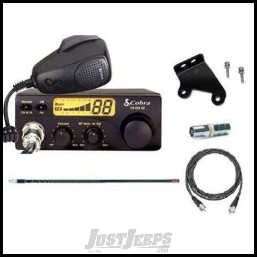 Cobra Electronics Compact CB Radio 19DXIV Kit JK