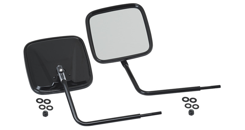 Kentrol Outback Mirrors Kit For 1976+ Jeep CJ Series, Wrangler YJ/TJ/TLJ, JK/JL/JT 2 Door & Unlimited 4 Door Models 50443