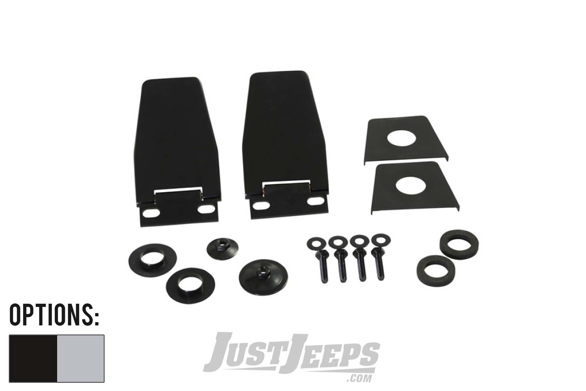 Kentrol Hardtop Stainless Steel Liftgate Hinges For 1987-06 Jeep Wrangler YJ, TJ & TLJ Unlimited Models