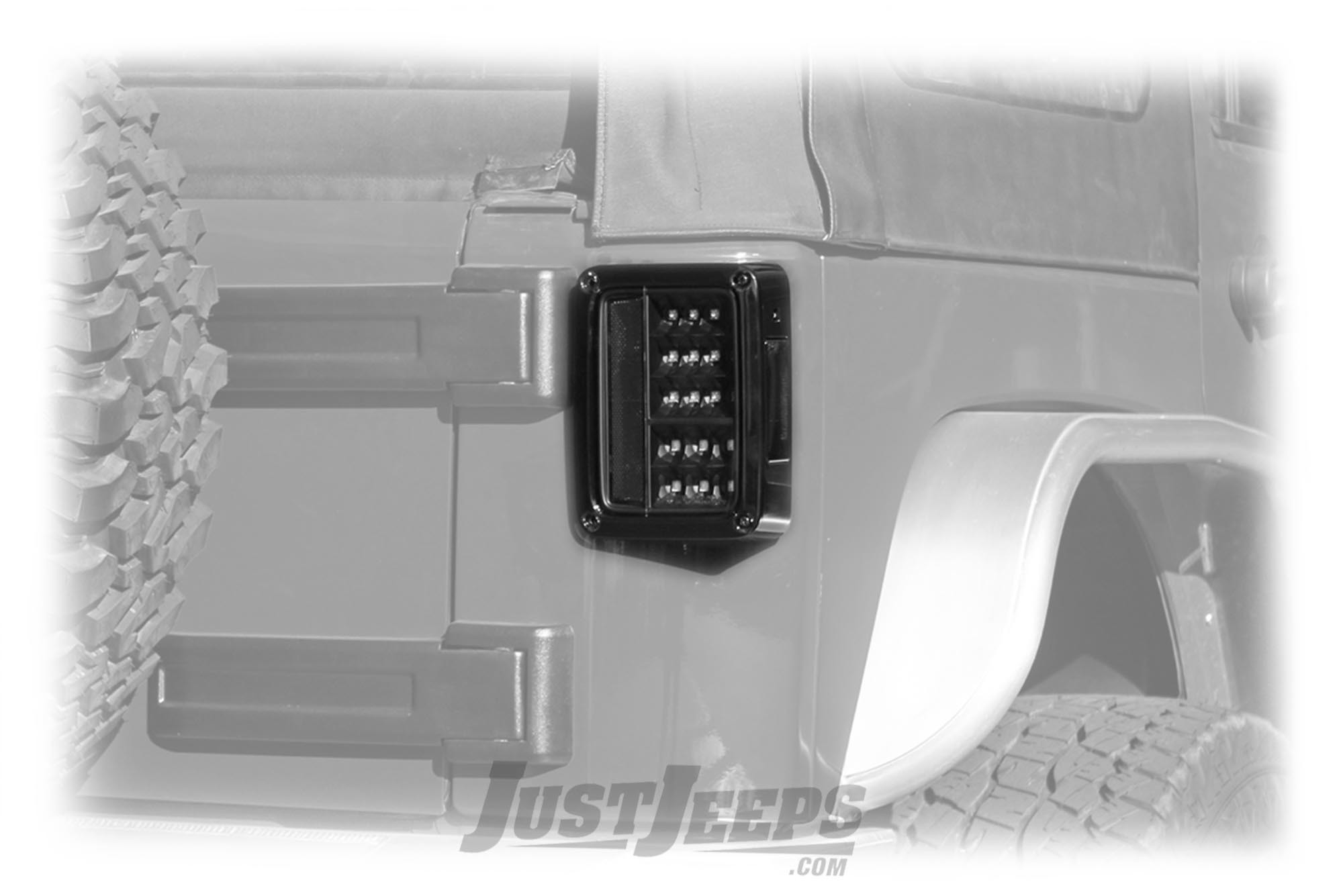 Spyder Automotive LED Tail Lights (Pair) For 2007-18 Jeep Wrangler 2 Door & Unlimited 4 Door Models 5070395-