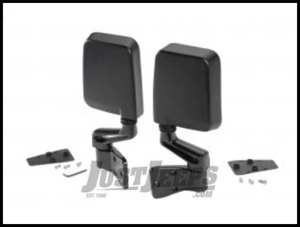 BESTOP HighRock 4X4 OE Style Replacement Mirrors In Black For 1987-18 Jeep Wrangler YJ, TJ/TLJ Unlimited, JK 2 Door & Unlimited 4 Door Models 51262-01