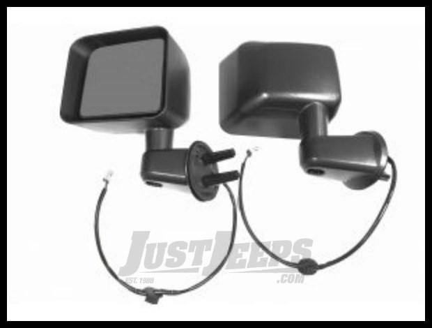 BESTOP HighRock 4X4 OE Style Replacement Power & Heated Mirrors In Black For 2011-13 Jeep Wrangler JK 2 Door & Unlimited 4 Door Models 51266-01