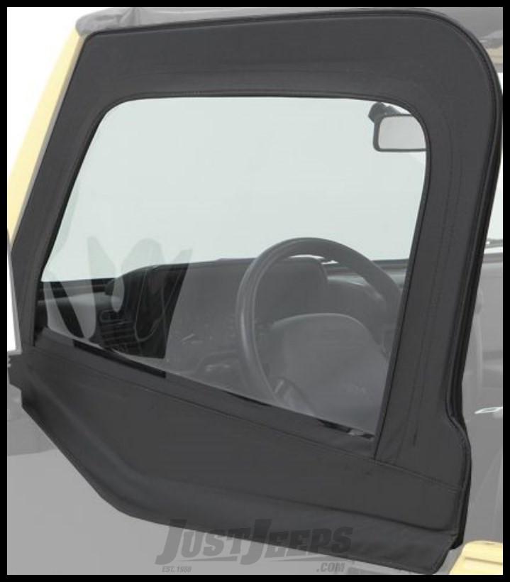 BESTOP Element Upper Doors In Black Denim For 1980-95 Jeep Wrangler YJ & CJ Series