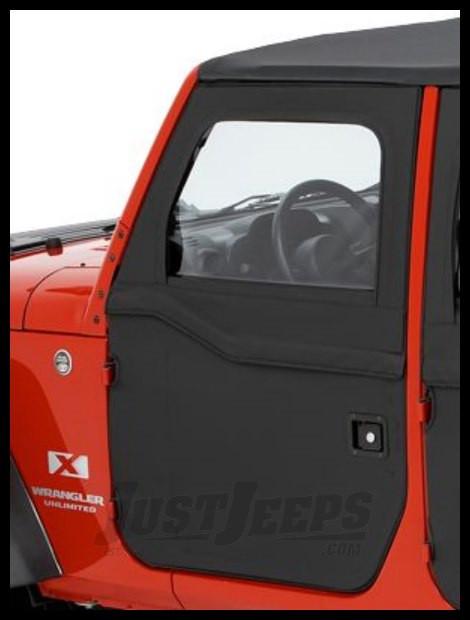 BESTOP Front Doors (2-Piece) Kit In Black Diamond For 2007-18 Jeep Wrangler JK 2 Door & Unlimited 4 Door Models