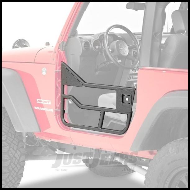 BESTOP HighRock 4X4 Element Doors Front Set In Black For 2007-18 Jeep Wrangler JK 2 Door & Unlimited 4 Door Models 51826-01