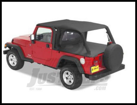 Bestop Header Bikini® Top Safari Version In Black Diamond For 2004 06 Jeep  Wrangler TJ Unlimited