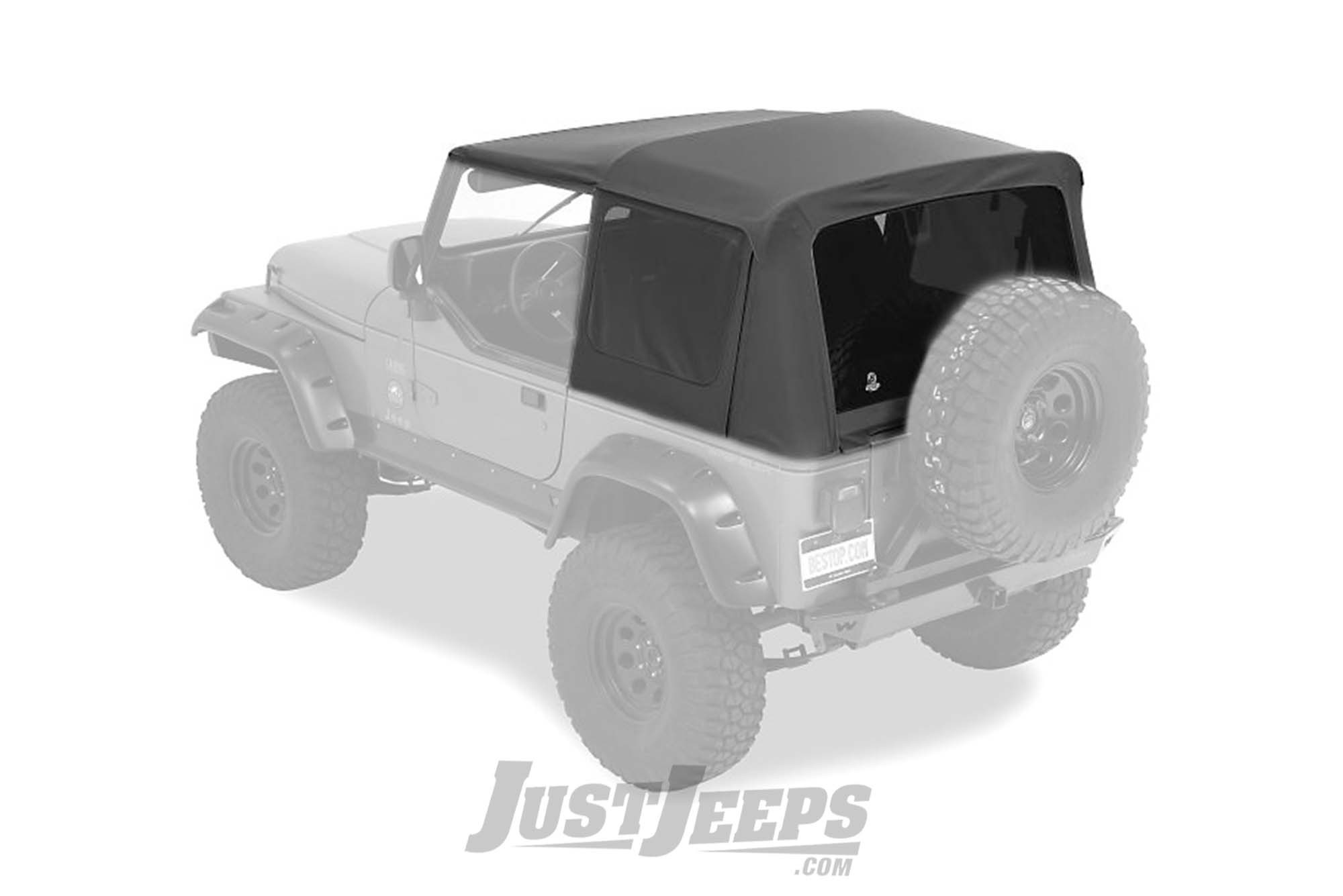 BESTOP Supertop NX Without Soft Upper Half Doors & Tinted Rear Windows For 1988-95 Jeep Wrangler YJ Models