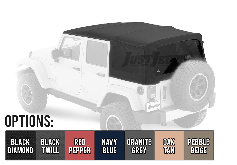 Bestop Supertop NX Soft Top (OEM Style) For 2007-18 Jeep Wrangler Unlimited JK 4 Door Models
