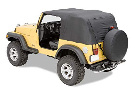 Pavement Ends Ends Emergency Black Denim For 1997-06 Jeep Wrangler TJ (Fits With Full Doors)