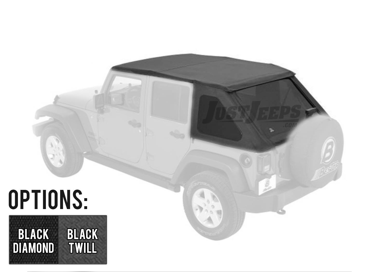 Bestop Trektop NX With Tinted Windows For 2007-18 Jeep Wrangler JK Unlimited 4 Door Models