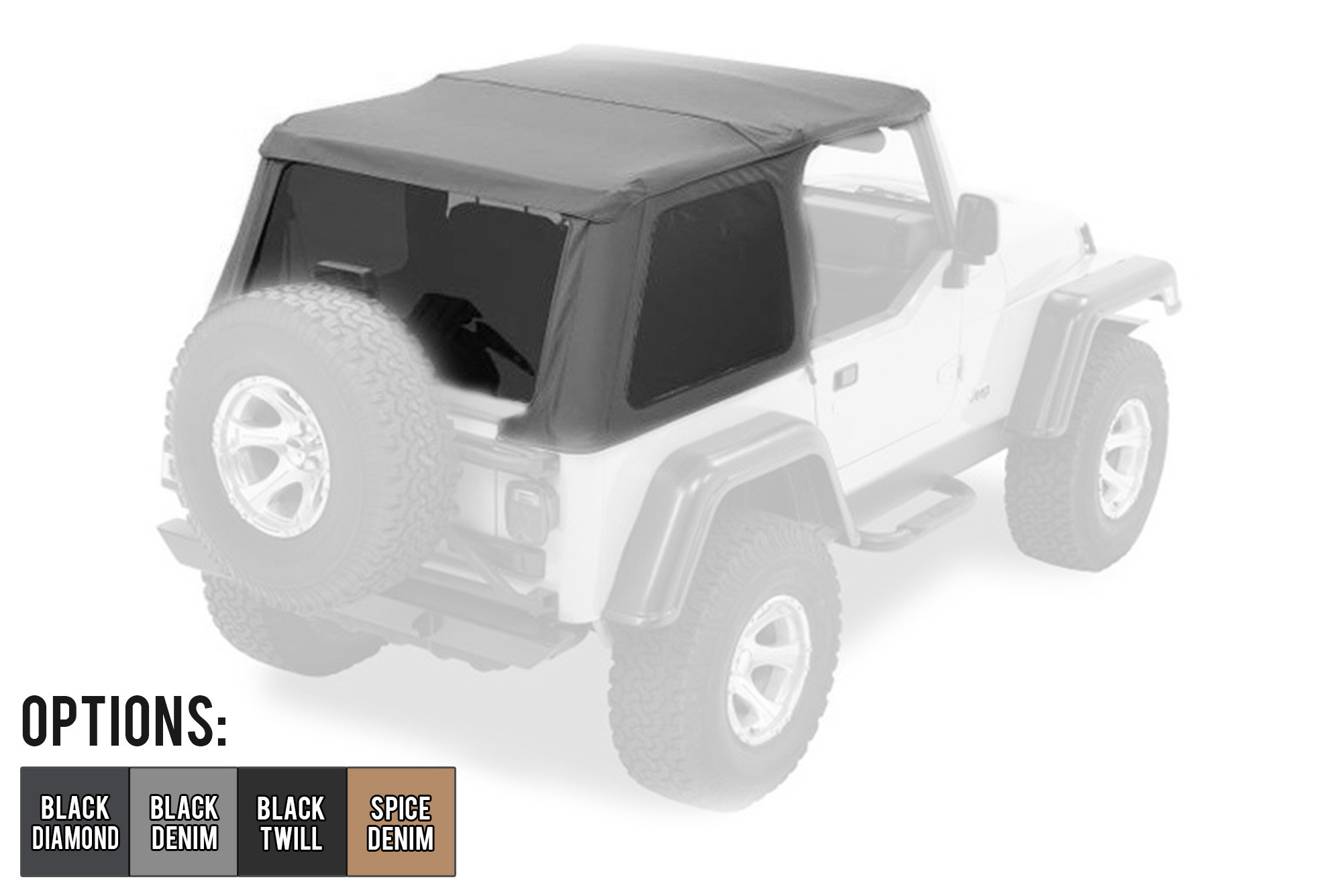 Bestop Trektop NX With Tinted Windows For 1997-06 Jeep Wrangler TJ Models