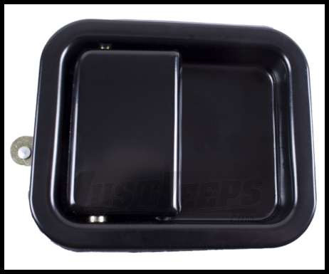 Omix-ADA Door Paddle Handle Full Steel Doors Driver Side Black for 1981-95 Jeep CJ/Wrangler And Passenger Side For 1997-06 Wrangler TJ 11812.05