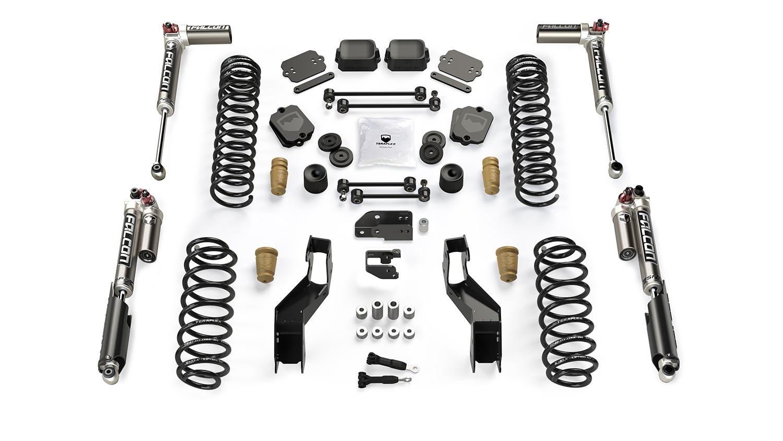 "Teraflex 3.5"" Sport ST3 Suspension System & Falcon SP2 3.3 Monotube For 2018+ Jeep Wrangler JLU 4 Door Models 1613033"