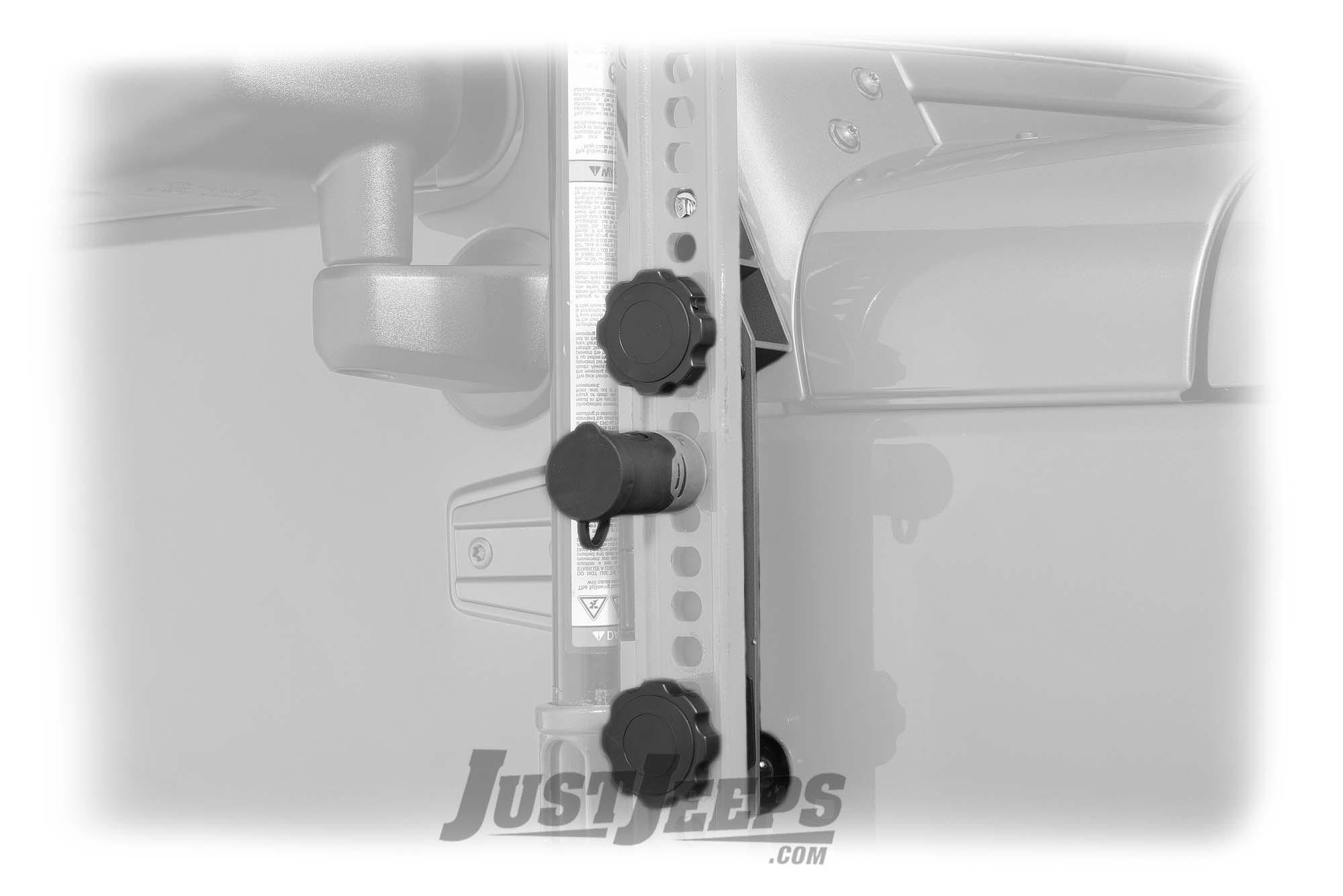 Hi-Lift Jack Bolt Lock 7028649 J-Mount black passenger side Jeep TJ JK