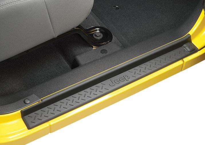 MOPAR Door Sill Kit with Jeep Logo For 2007-18 Jeep Wrangler JK 2 Door Models