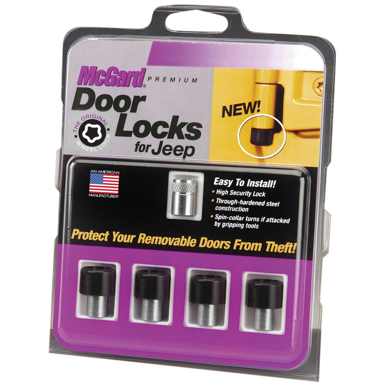 McGard Lock Set (M6 x 1.0 Thread Size) For 2007-18 Jeep Wrangler JK 4 Door Models 76060